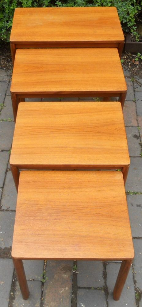 Retro Teak Nest of Four Coffee Tables